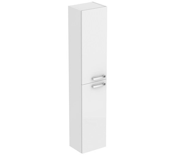 Additional image of Ideal Standard Tempo 300mm Wall Hung Sandy Grey Column Unit With 2 Doors