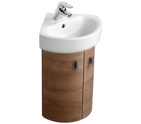 Ideal standard concept wall 370 x 380mm 2 door corner - Corner sink and vanity unit ...