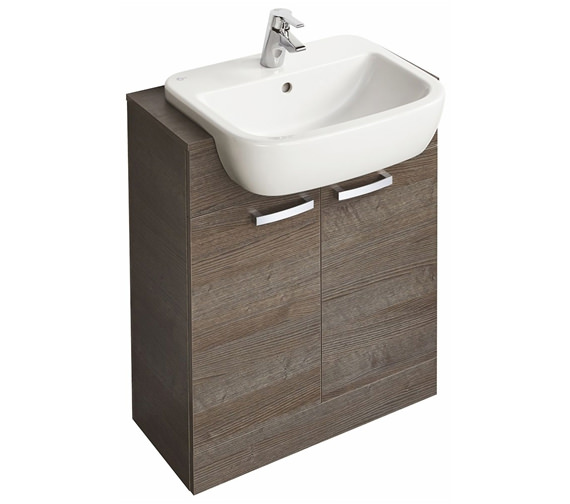 Ideal Standard Tempo 650mm Floorstanding 2 Door Sandy Grey Vanity Unit