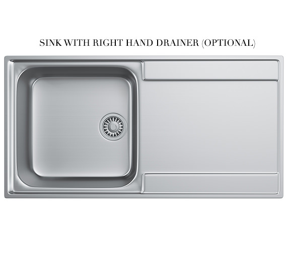 Additional image of Franke Maris Slim-Top MRX 211 Stainless Steel 1.0 Bowl Kitchen Inset Sink