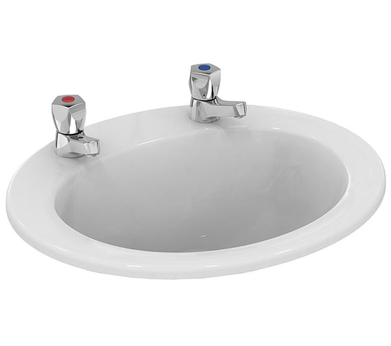 Armitage Shanks Sandringham 21 500mm 2 Tapholes Countertop Washbasin