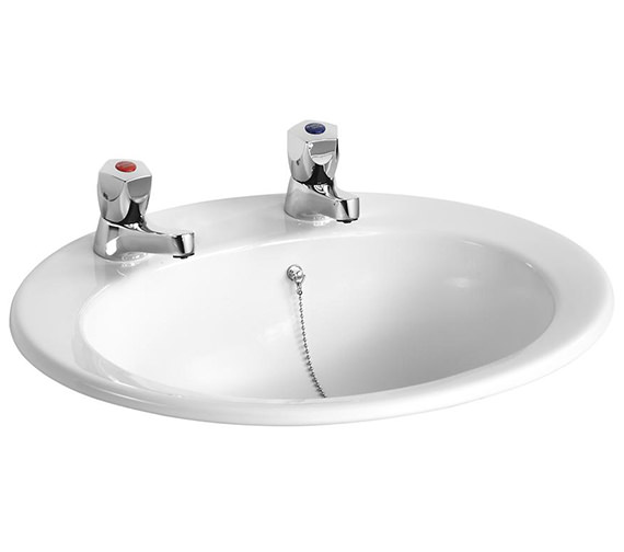 Armitage Shanks Sandringham 21 500mm 2 TH Countertop Basin With Chain Hole
