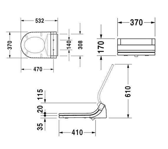 Technical drawing QS-V75063 / 610001002004300