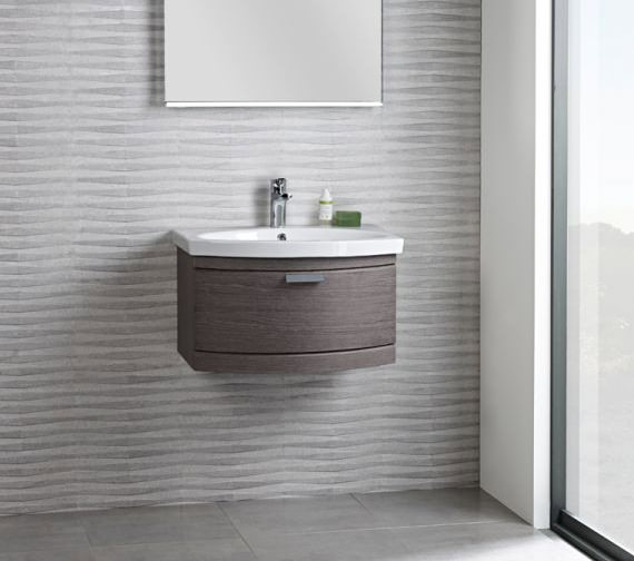 Additional image of Tavistock Tempo 650mm Dark Java Wall Mounted Unit And Basin