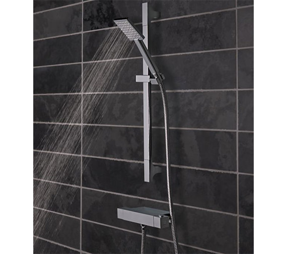 Tavistock Index Thermostatic Bar Valve Shower System With Accessory Shelf