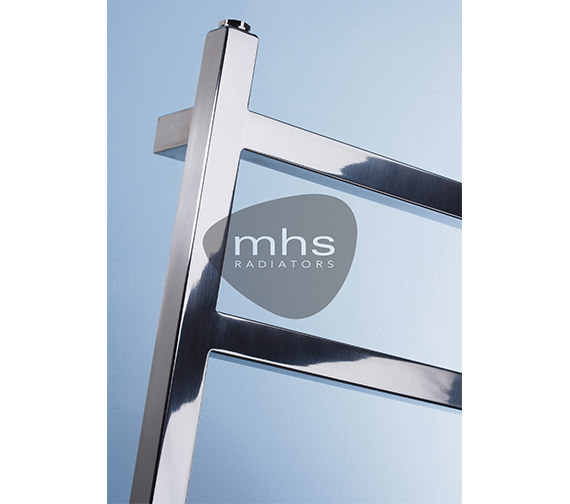 Alternate image of MHS Climber Polished Stainless Steel Heated Towel Rail 500 x 1800mm