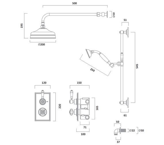 Technical drawing QS-V72932 / SVA1615