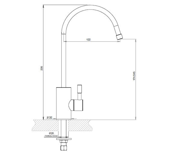 Technical drawing QS-V76997 / 1200187422
