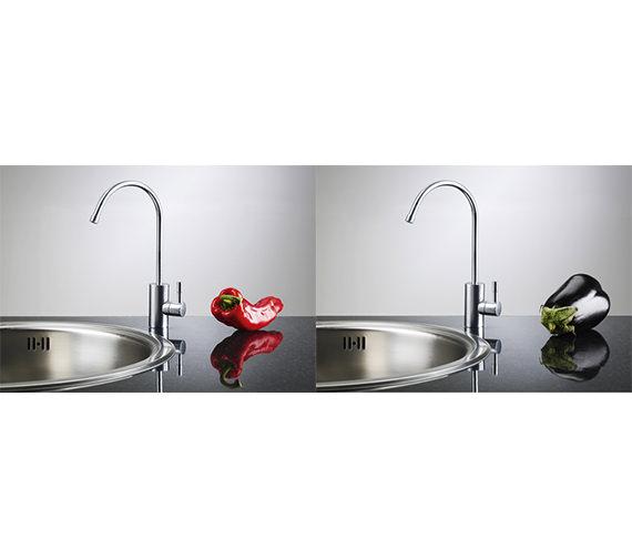 franke filterflow mini kitchen sink mixer tap silksteel