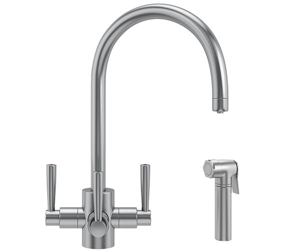 Franke FilterFlow Olympus Kitchen Sink Tap With Hand Spray SilkSteel