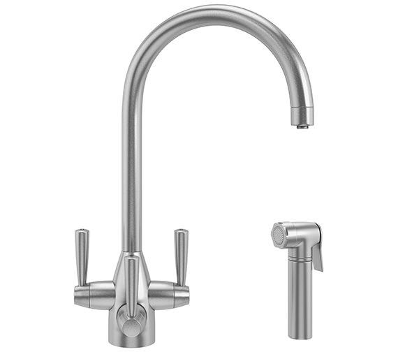 Franke FilterFlow Doric Kitchen Sink Tap With Hand Spray SilkSteel