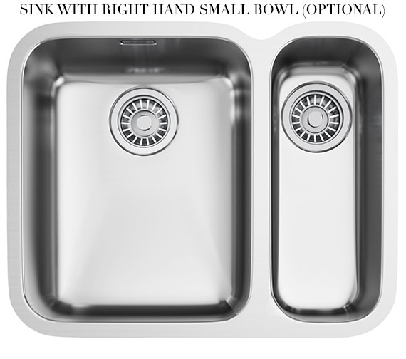 Additional image of Franke Ariane ARX 160D Stainless Steel 1.5 Bowl Undermount Kitchen Sink