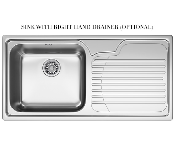 Additional image of Franke Galassia GAX 611 Stainless Steel 1.0 Bowl Kitchen Inset Sink