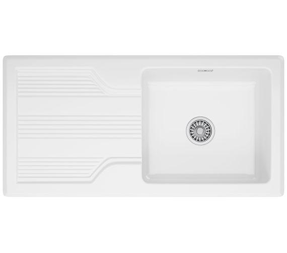 Franke Galassia GAK 611 Ceramic White 1.0 Bowl Kitchen Inset Sink