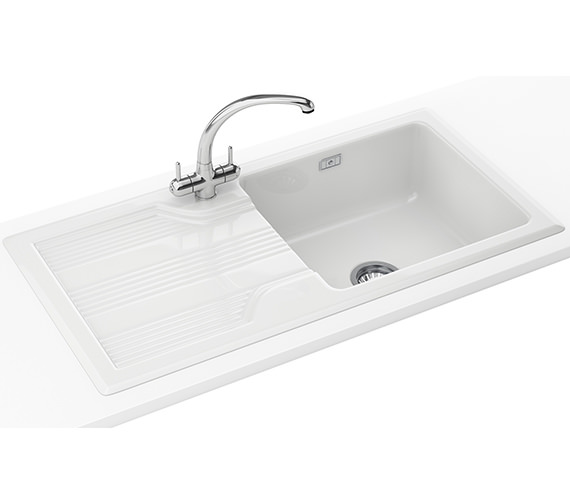 Franke Galassia Propack GAK 611 Ceramic White Kitchen Inset Sink And Tap
