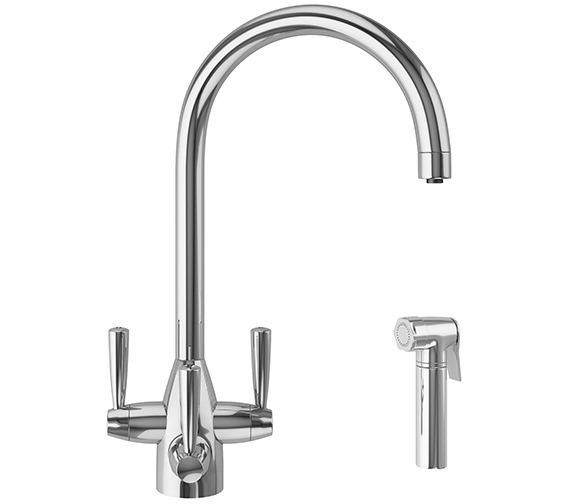 Franke FilterFlow Doric Kitchen Sink Tap With Hand Spray Chrome