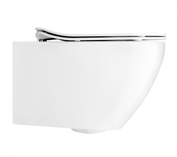 Bauhaus Svelte White Wall Hung WC Pan With Soft Close Seat