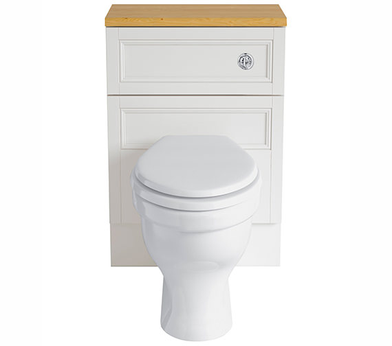 Heritage Caversham White Ash 560mm Back-To-Wall WC Furniture Unit