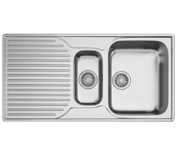 Franke Ariane ARX 651P Stainless Steel 1.5 Bowl Kitchen Inset Sink