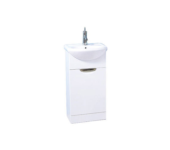 Aqva New York Bathroom Vanity Unit With White Ceramic Basin 450mm