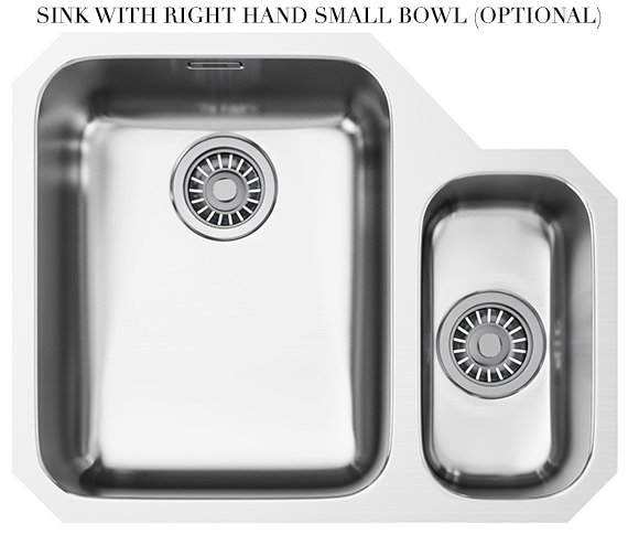 Additional image of Franke Ariane ARX 160 Stainless Steel 1.5 Bowl Undermount Kitchen Sink