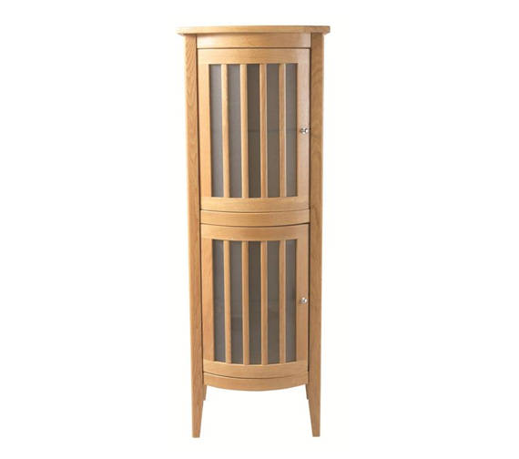 Imperial Linea Bow Fronted Tall Cabinet With 2 Doors LH - XG34L10020