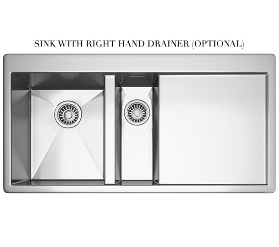 Alternate image of Franke Planar Slim-Top DP PPX 251 Stainless Steel Kitchen Sink And Tap