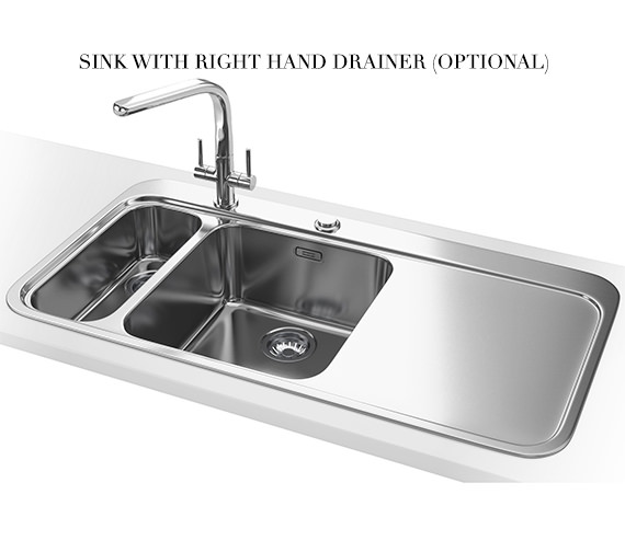Alternate image of Franke Sinos Designer Pack SNX 261 1.5 Bowl Stainless Steel Sink And Tap