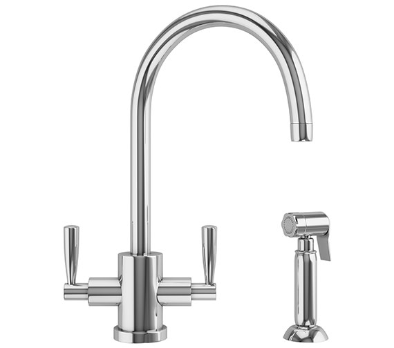 Franke Olympus Kitchen Sink Mixer Tap With Side Spray Chrome