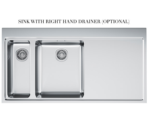 Alternate image of Franke Mythos Slim-Top DP MMX 261 Stainless Steel Kitchen Sink And Tap
