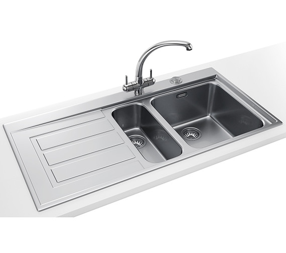 Franke Epos Propack EOX 651 Stainless Steel Kitchen Sink And Tap