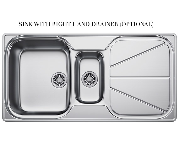 Additional image of Franke Simplon SPX 651 Stainless Steel 1.5 Bowl Kitchen Inset Sink