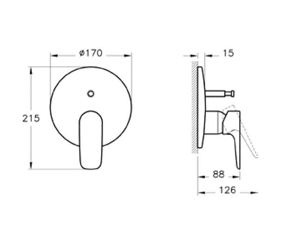 Technical drawing QS-V79881 / A42251VUK