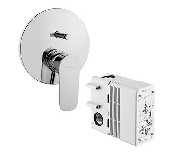 Additional image of VitrA X-Line Built In Bath Shower Mixer - A42251VUK