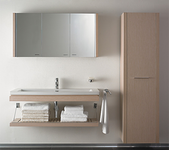 Duravit 2nd floor rosewood 1200mm mirror cabinet 2f965306767 for Bathroom cabinets 200mm wide