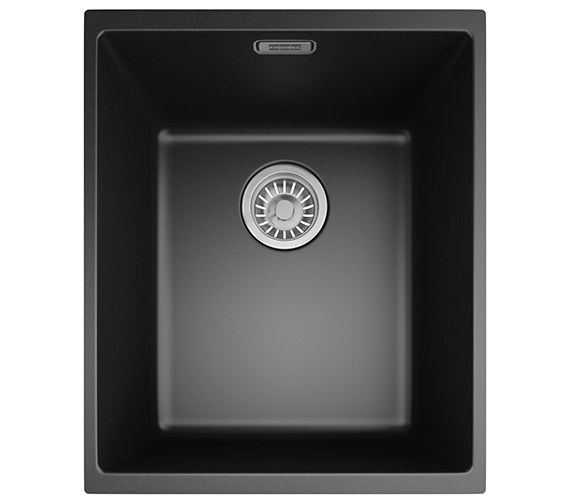 Franke Sirius SID 110 34 Tectonite Carbon Black 1.0 Bowl Undermount Sink
