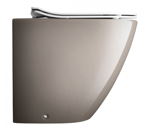 Bauhaus Svelte Platinum Back To Wall WC Pan With White Soft Close Seat