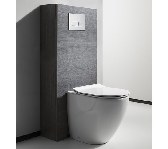 Crosswater Bauhaus Svelte White Back To Wall WC Pan With Soft Close Seat