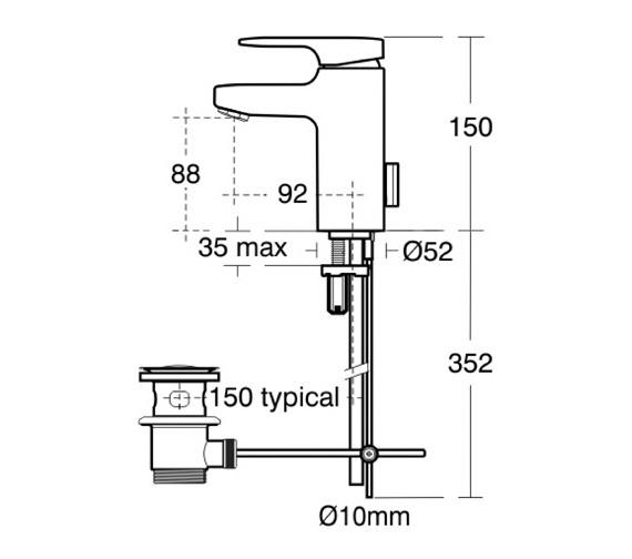 Technical drawing QS-V41054 / A3906AA