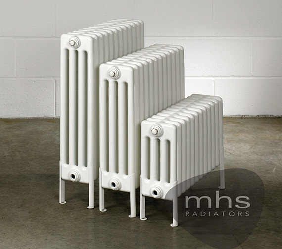 MHS Multisec Floor 4 Column Radiator 585 x 699mm - NMF-0600-4-13