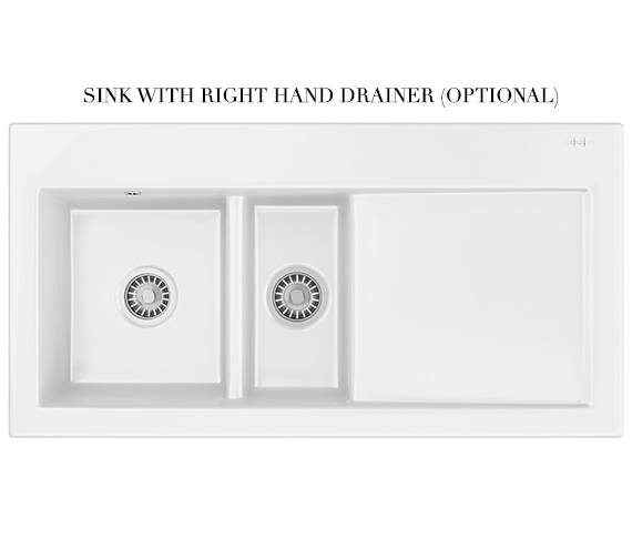 Alternate image of Franke Mythos Designer Pack MTK 651 Ceramic White Kitchen Sink And Tap