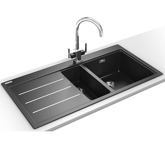 Franke Mythos Fusion Designer Pack MTF 651-100 Fragranite Onyx Sink And Tap