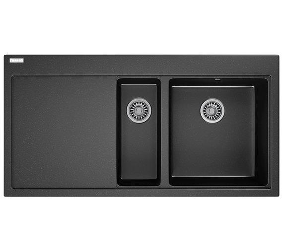 Franke Mythos MTG 651-100 Fragranite Onyx 1.5 Bowl Inset Kitchen Sink