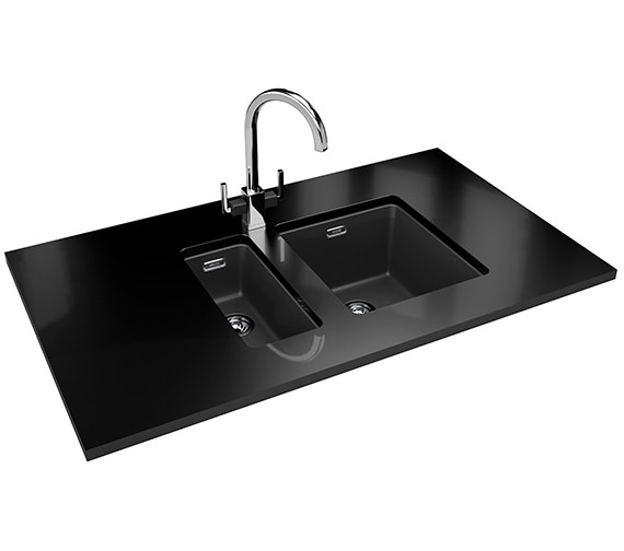 Additional image of Franke Kubus KBG 110 16 Fragranite Onyx 1.0 Bowl Kitchen Undermount Sink