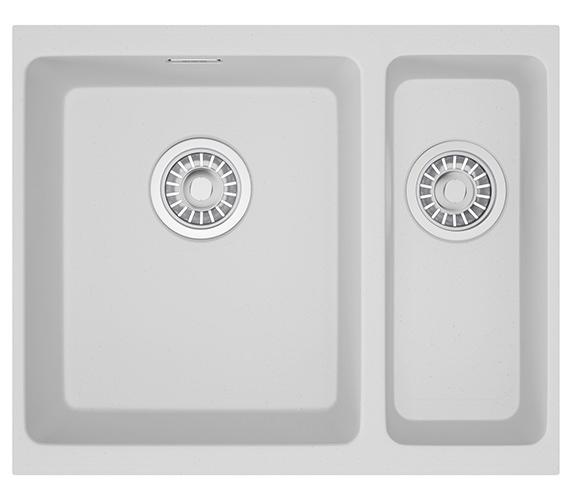 Franke Kubus KBG 160 Fragranite Polar White 1.5 Bowl Undermount Sink