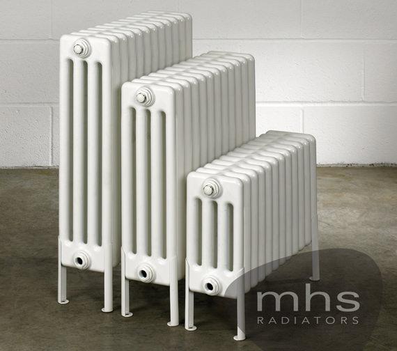 MHS Multisec Floor 4 Column Radiator 1350 x 599mm - NMF-0500-4-30