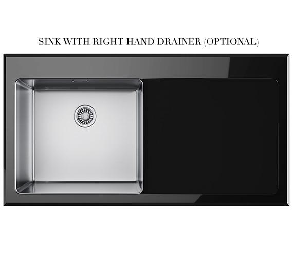 Alternate image of Franke Kubus Designer Pack KBV 611 Black Glass Inset Sink And Tap