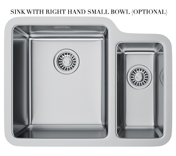 Additional image of Franke Kubus KBX 160 34-16 Stainless Steel 1.5 Bowl Undermount Sink