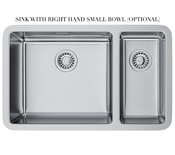 Additional image of Franke Kubus KBX 160 45-20 Stainless Steel 1.5 Bowl Undermount Sink