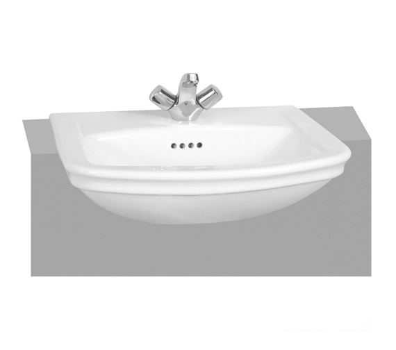 VitrA Serenada 565 x 485mm 1 Taphole Semi-Recessed Washbasin